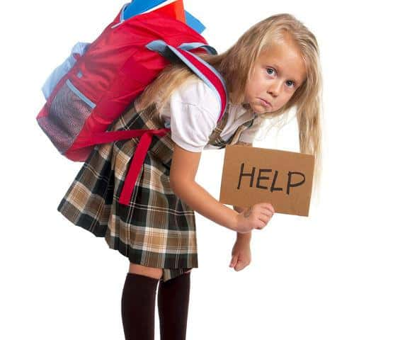 Backpacks and poor posture in children