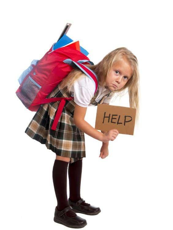 Backpacks and poor posture in children