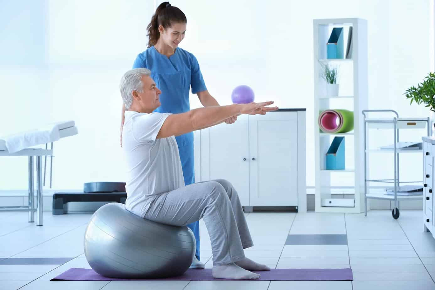 physical therapy with client photo
